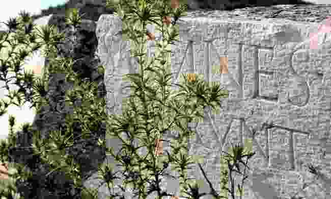 Roman epitaph in Doclea (Shutterstock)