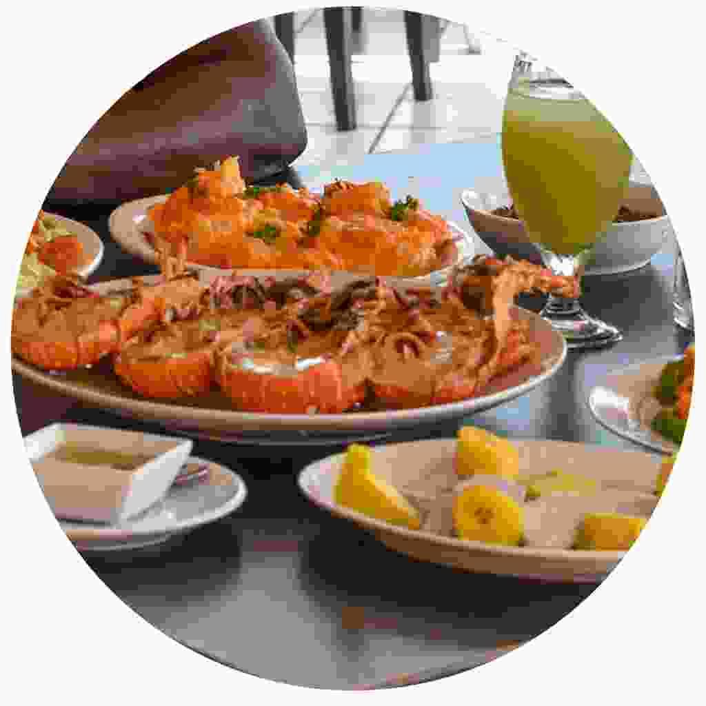 Enjoy a fresh lobster dinner on the island