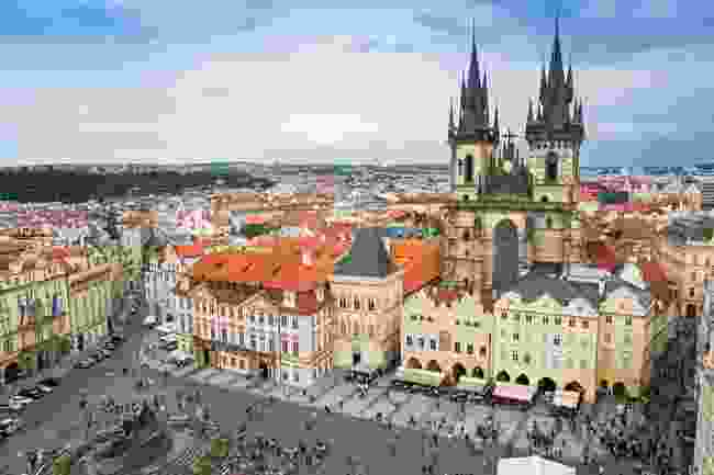 A view of Prague from above (Dreamstime)