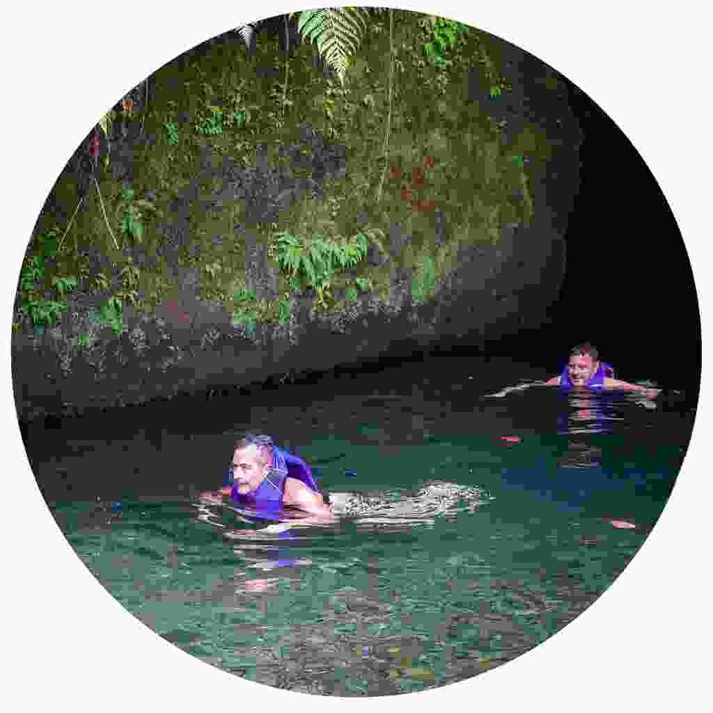 Swim through turqoise TiTou Gorge