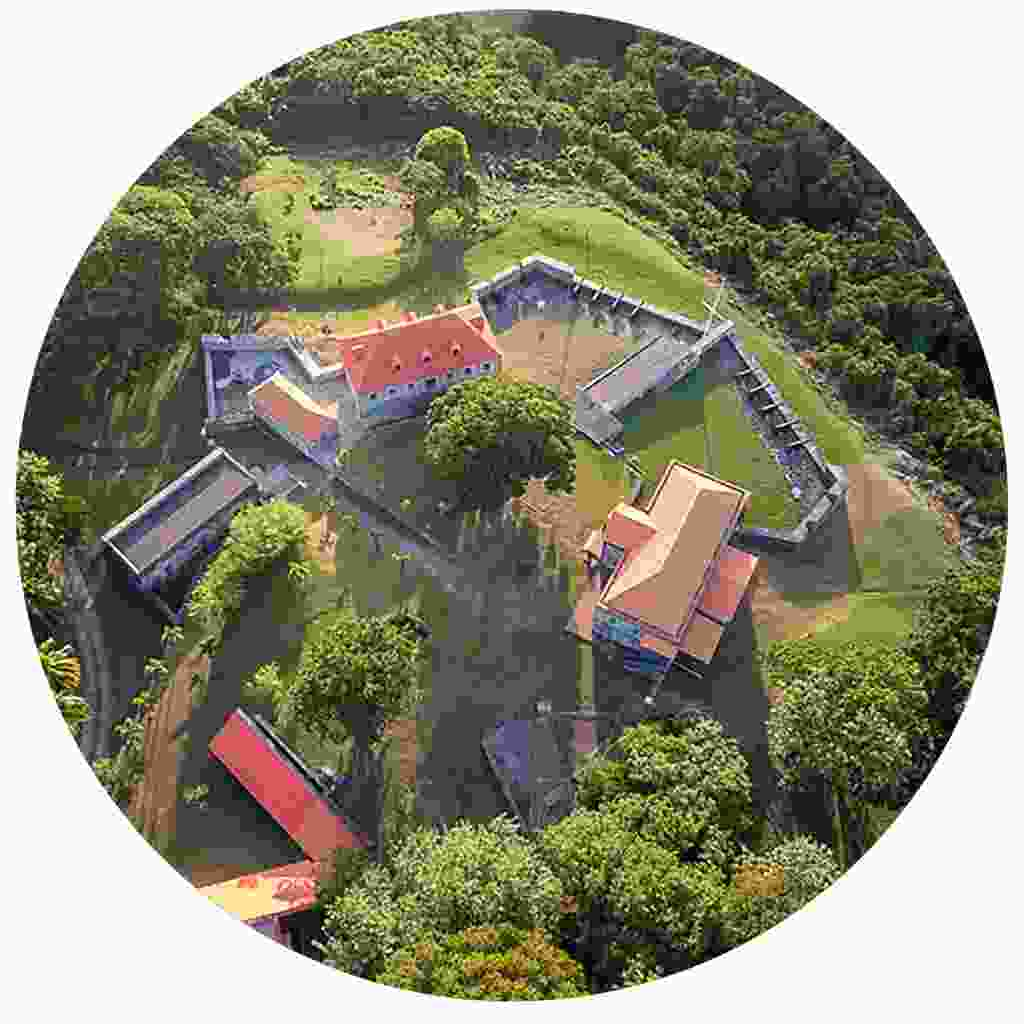 Colourful Fort Shirley from above