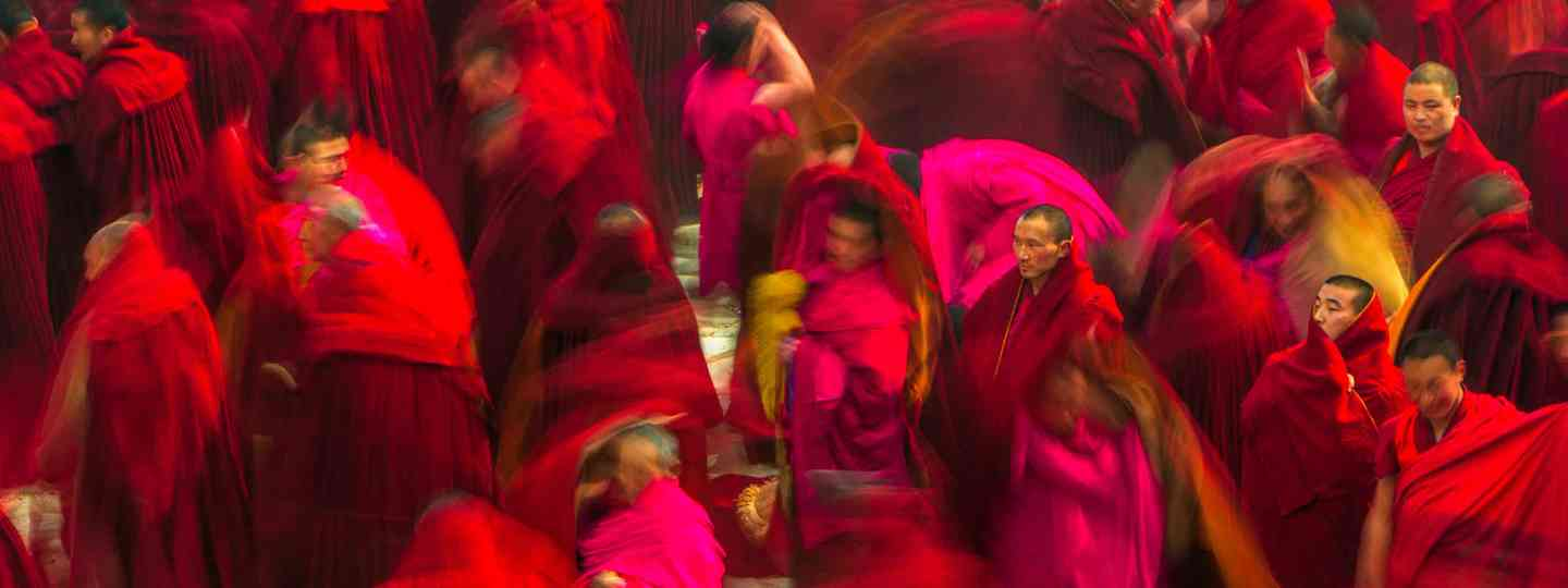 Monks at Labrang Monastery, China (Art Wolfe, Photos From The Edge)