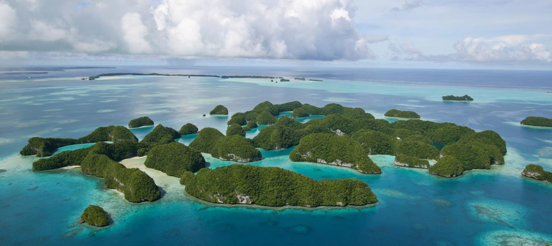 An aerial view of Palau's Seventy Islands Nature Reserve (dreamstime.com)