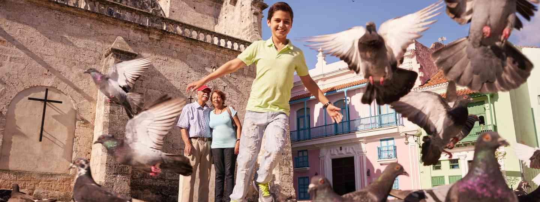Chasing pigeons in Havana (Dreamstime)