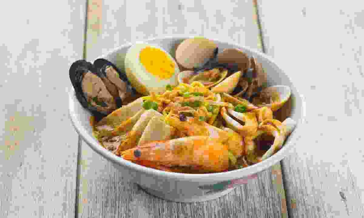 Malaysian seafood laksa. (Shutterstock)