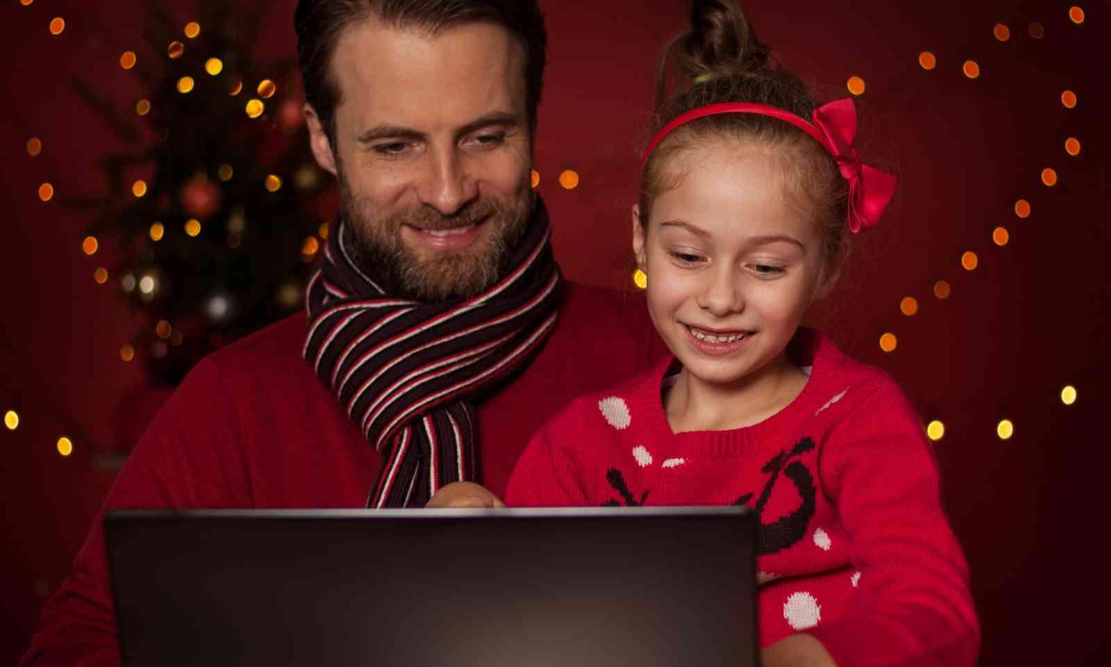 Skyping home for Christmas (Dreamstime)