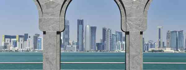 Traditional dhows displayed in front of Qatar's Museum of Islamic Art(dreamstime.com)