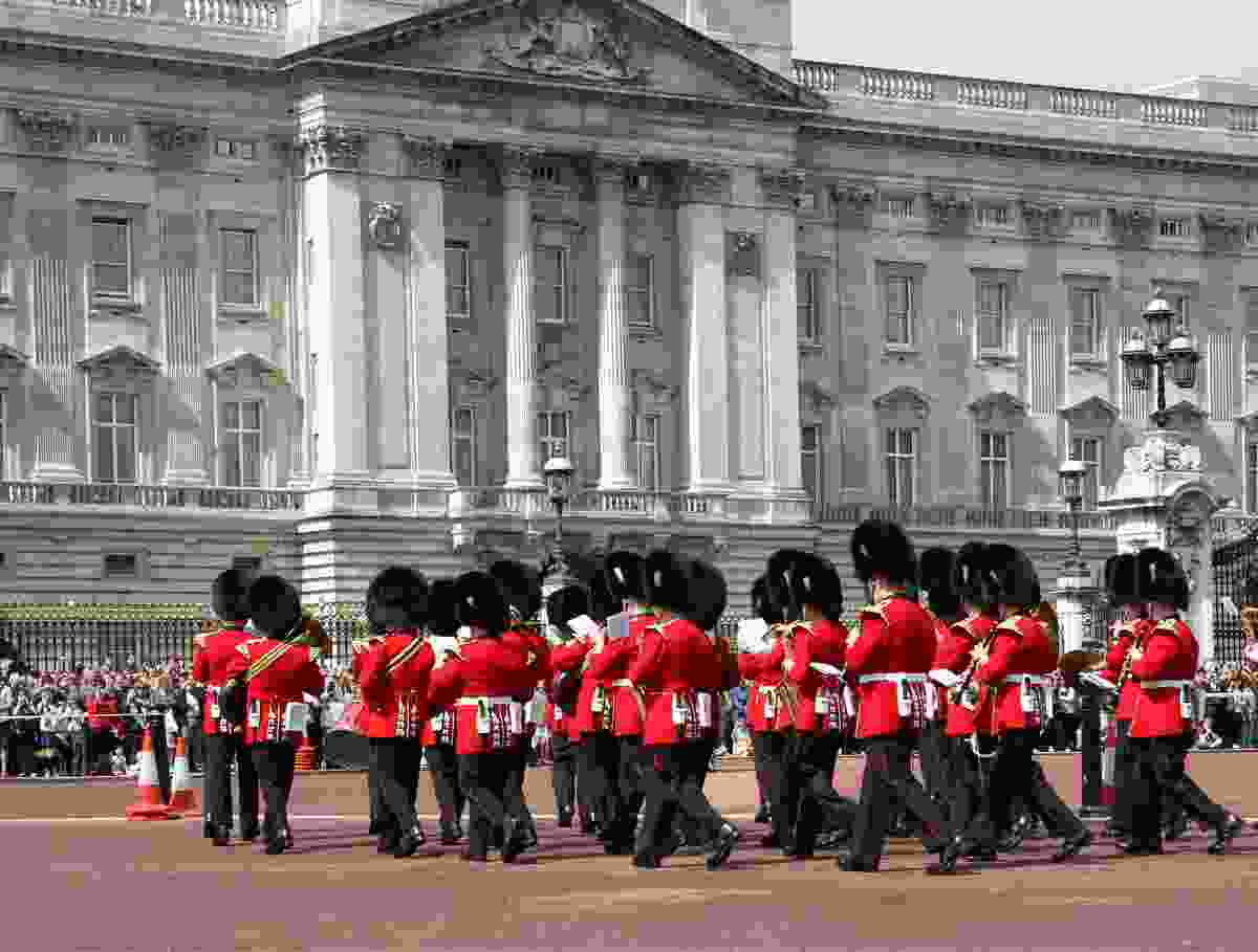 The changing of the guard, Buckingham Palace. (Dreamstime)