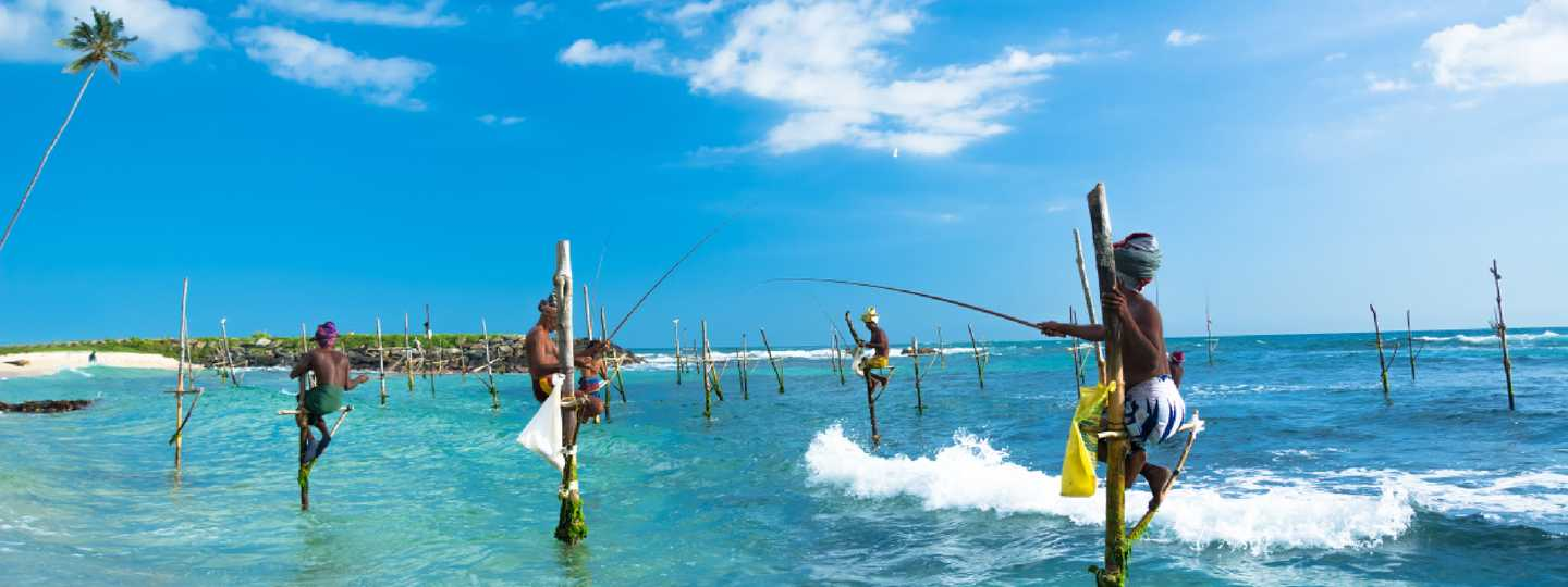 Traditional fishermen near Galle (Shutterstock.com. See main image below)