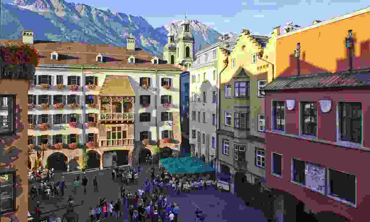 The town of Innsbruck, where the open-air cinema takes place (Christof Lackner)