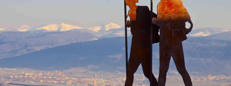 Pilgrim monument on the Camino De Santiago (Dreamstime)