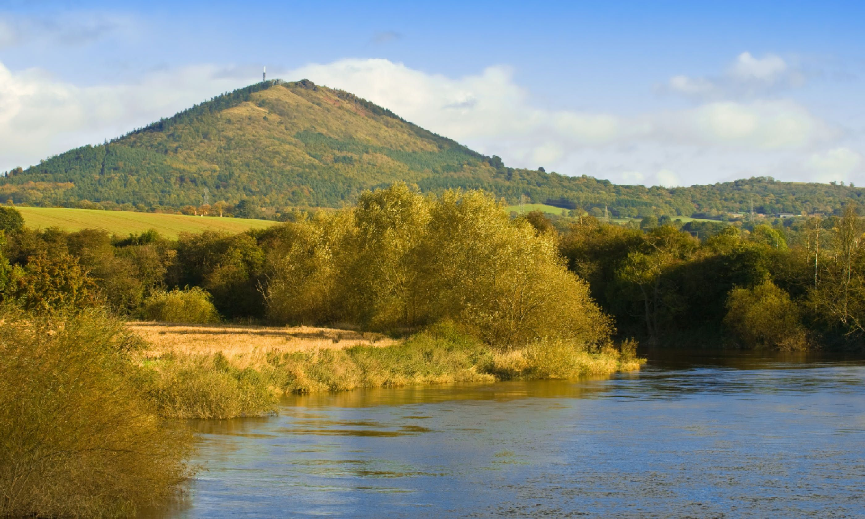 The Wrekin, with river Severn (Shutterstock)