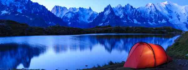 Wild camping spot, Lac De Chéserys, Chamonix (Dreamtime)