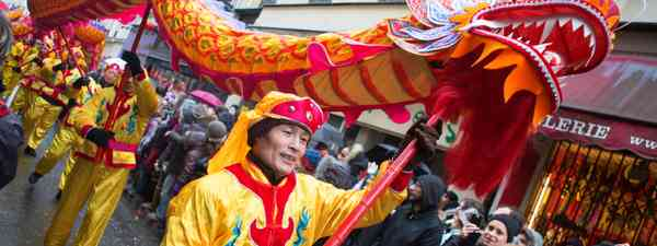 Lion dance through Paris (Shutterstock)