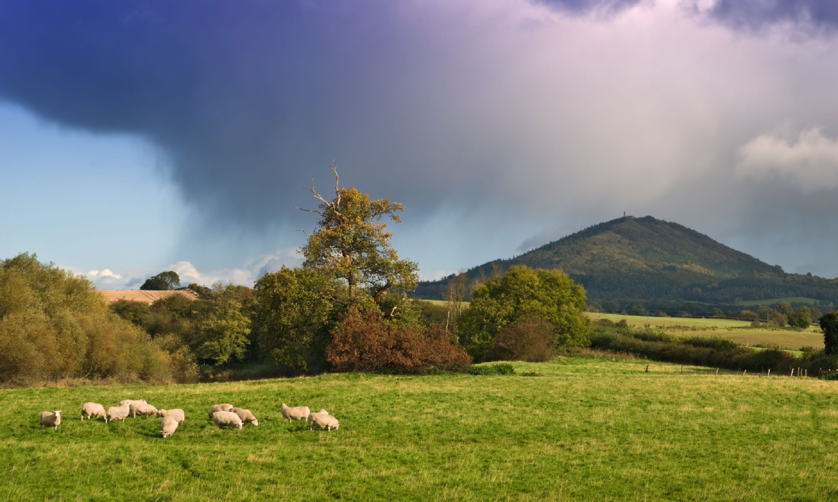Gathering storm over the Wrekin (Shutterstock)