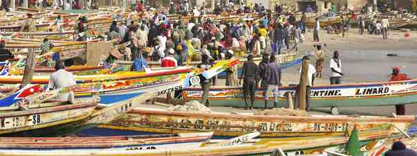 Fishing boats in Ziguinchor (Dreamstime)
