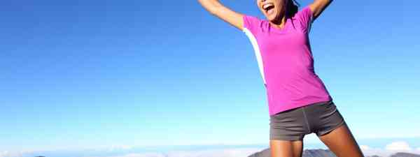 Runner in the mountains (Dreamstime)
