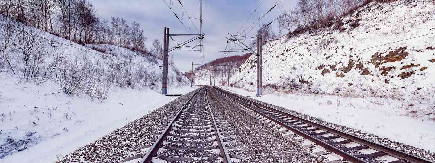 Tracks heading east on the Trans-Siberian Express (Dreamstime)