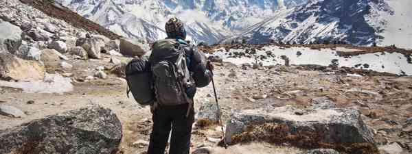 Trekking near Everest Base Camp (Dreamstime)