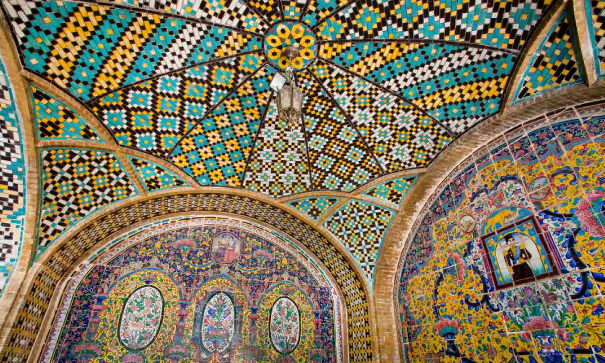 Colourful ceiling of Golestan Palace, Tehran (Shutterstock)