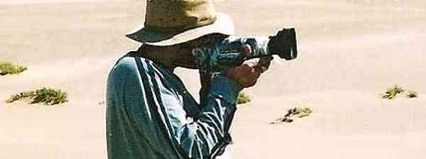 Andrew Miles filming in Namibia (Andrew Miles)
