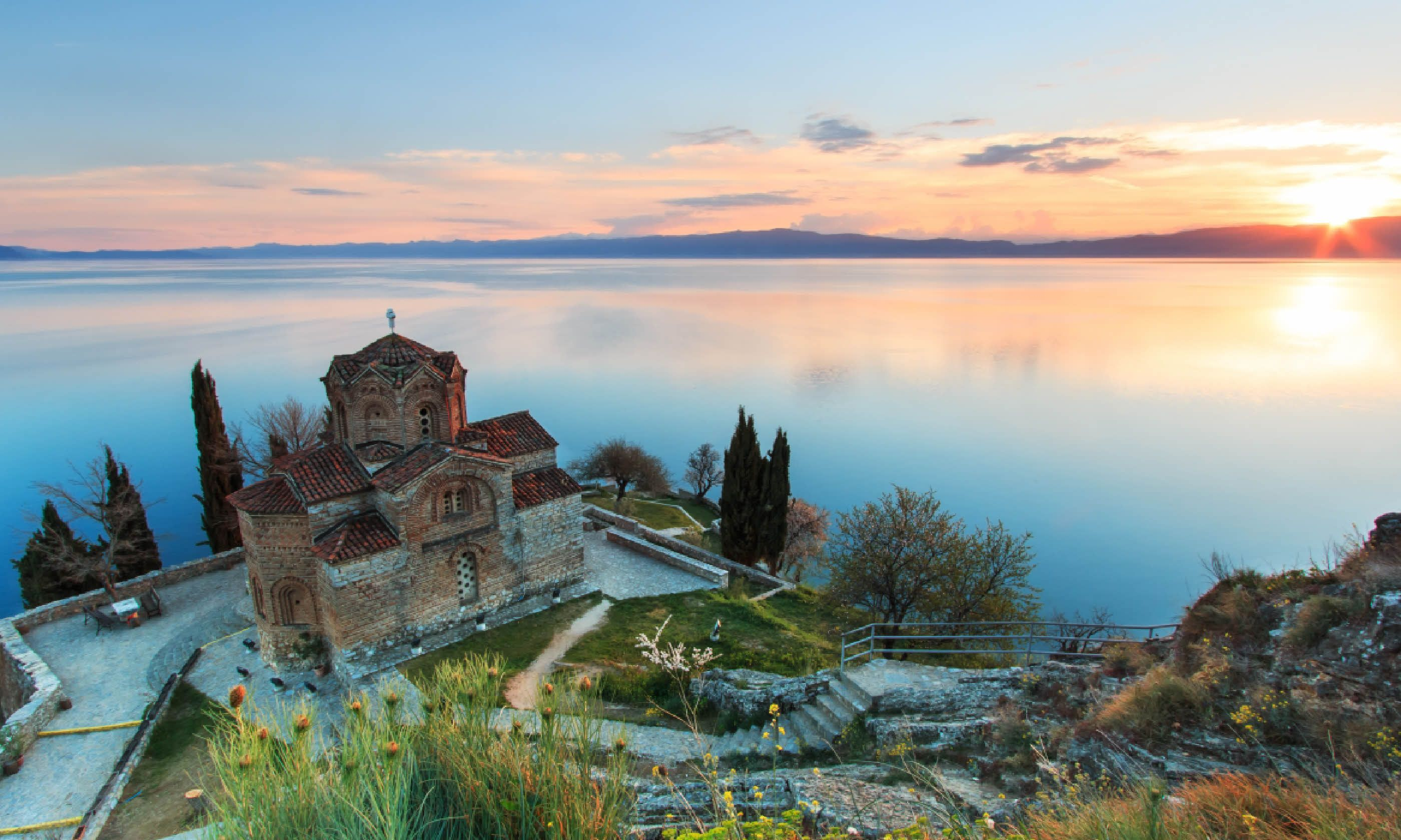 Sveti Jovan Kaneo Church on Ohrid Lake (Shutterstock)