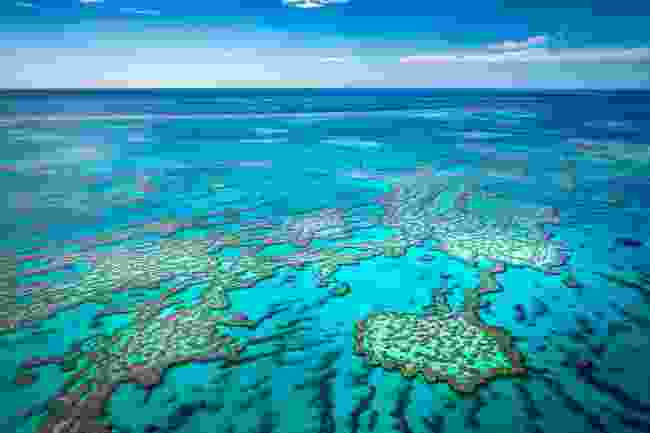 A view of the Great Barrier Reef from the air (Shutterstock)