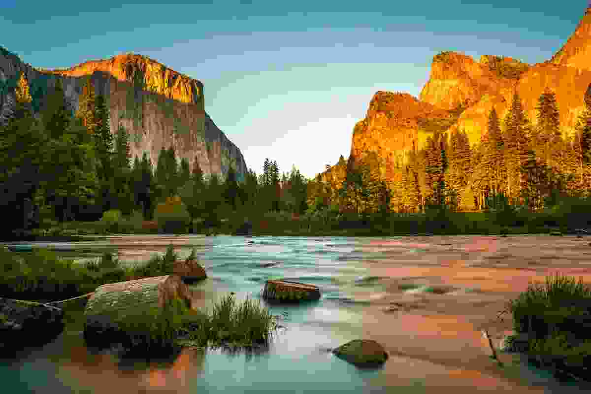 Yosemite National Park at sunset, USA (Shutterstock)