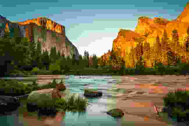 Yosemite National Park at sunset, USA (Shutterstock)