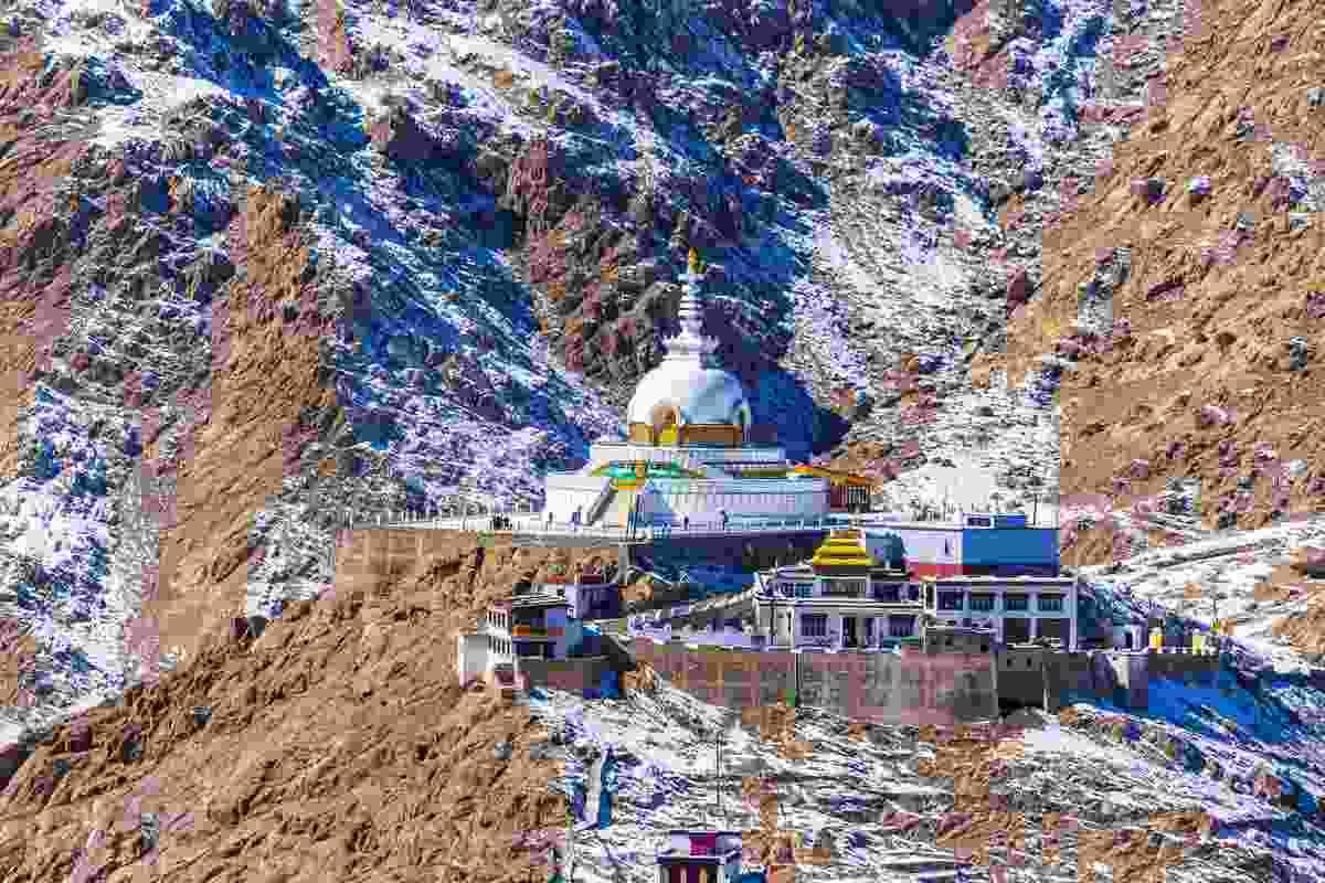 Shanti Stupa in Ladakh, India (Shutterstock)