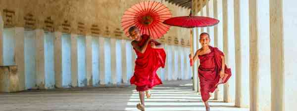 Buddhism novices at Shwezigon temple, Bagan (Shutterstock)