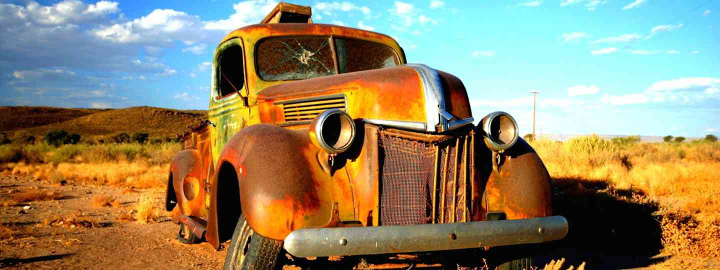 Rusty car, Namibia (Dreamstime)