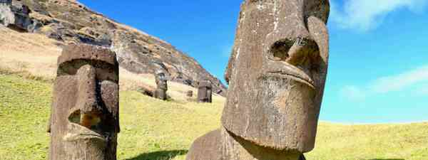 Moai statues on Rapa Nui (Graeme Green)