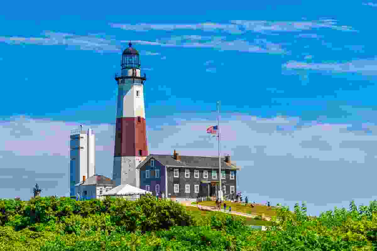 The famous lighthouse in Montauk village, at the very edge of Long Island, New York (Shutterstock)