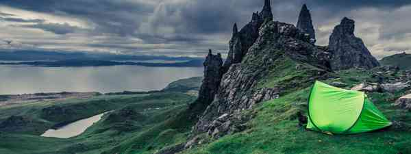Campsite at Old Man of Storr, Scotland (Dreamstime)