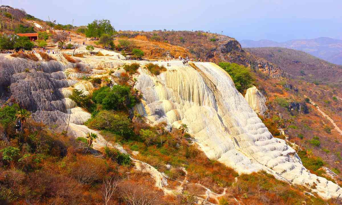 Petrified waterfall at Hierve el Agua (Dreamstime)