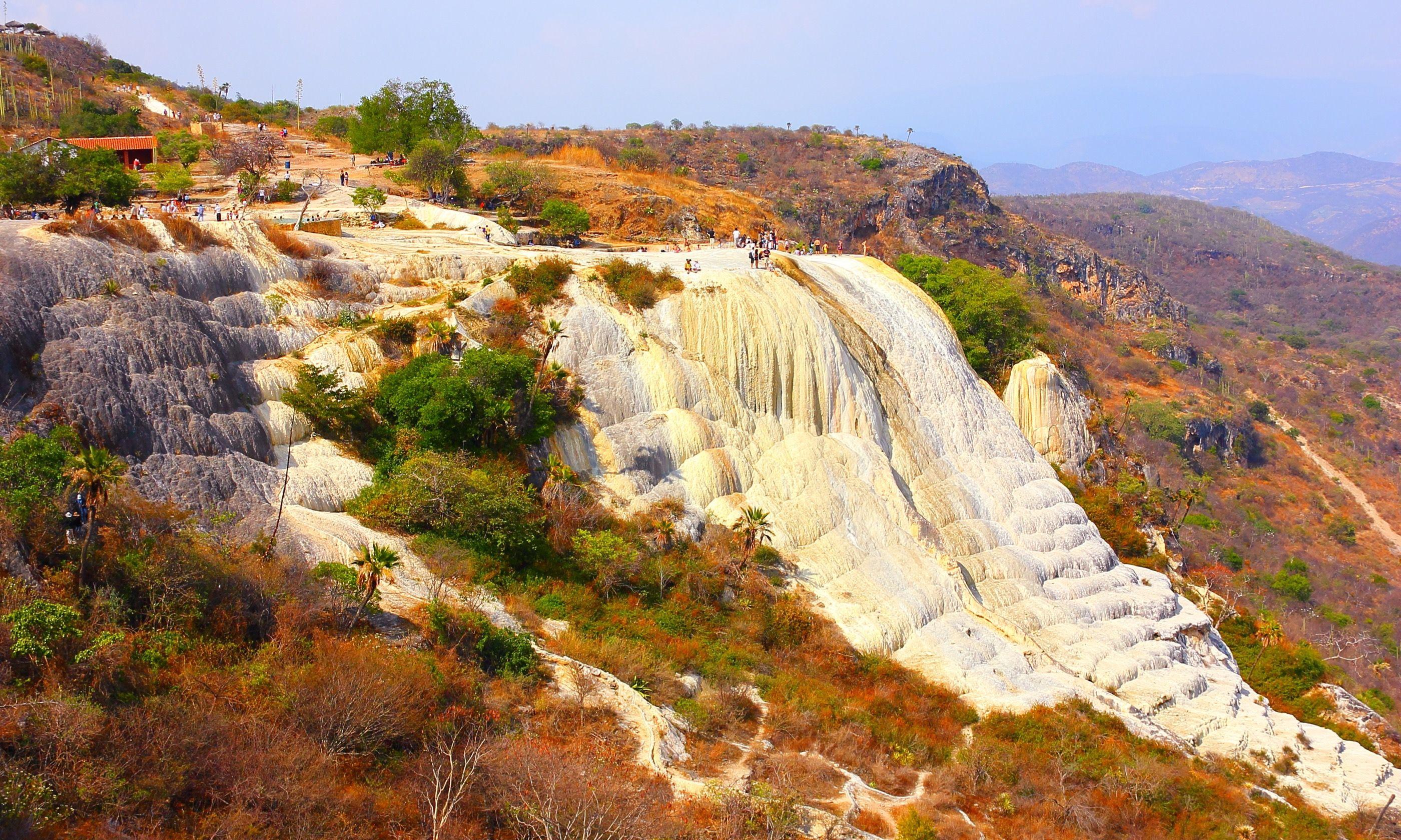 Petrified waterfall at Hierve el Agua (Dreamstime)