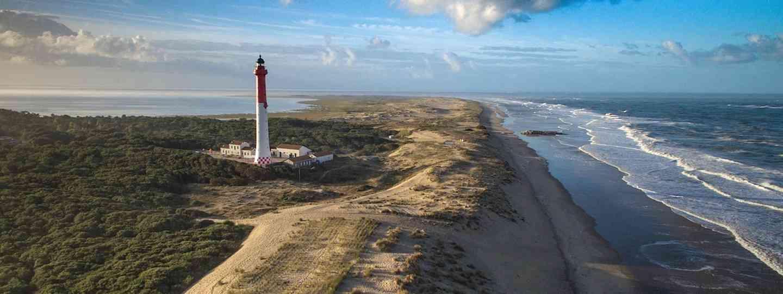Solitary lighthouse on the Atlantic Coast of France (Fergus Kennedy)