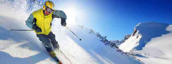 Skier in high mountains (Dreamstime)