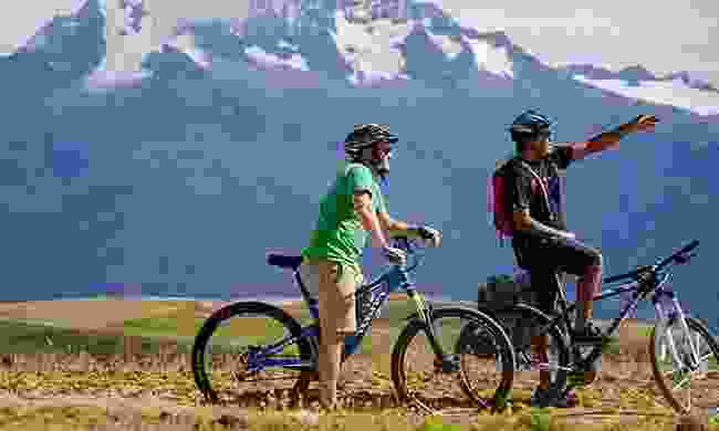 Cyclists in the Peruvian mountains (Intrepid)