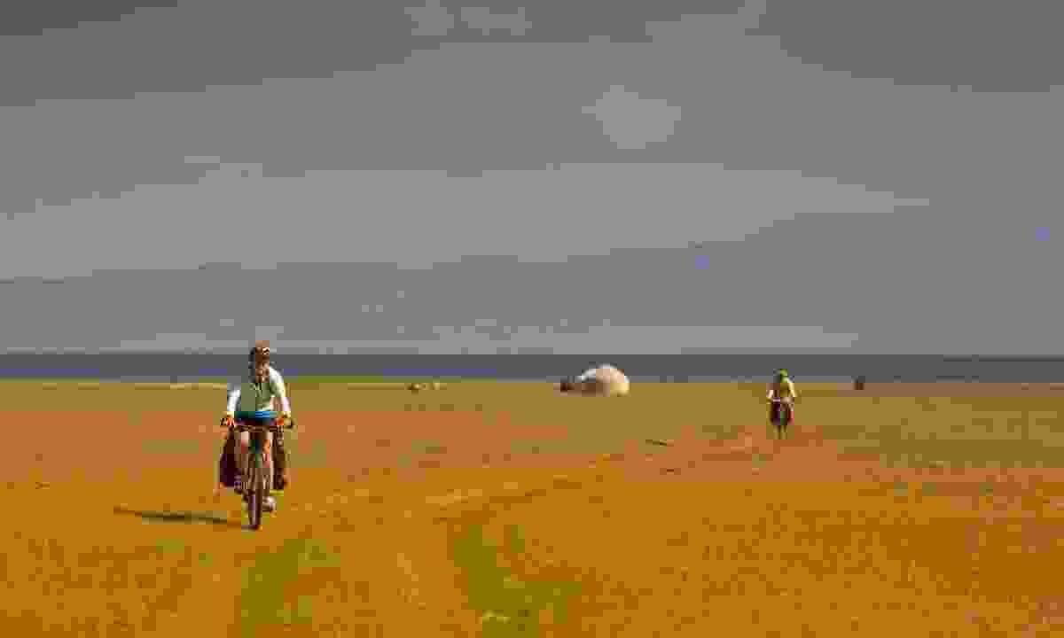 Cycling near Tien Shan (Shutterstock)
