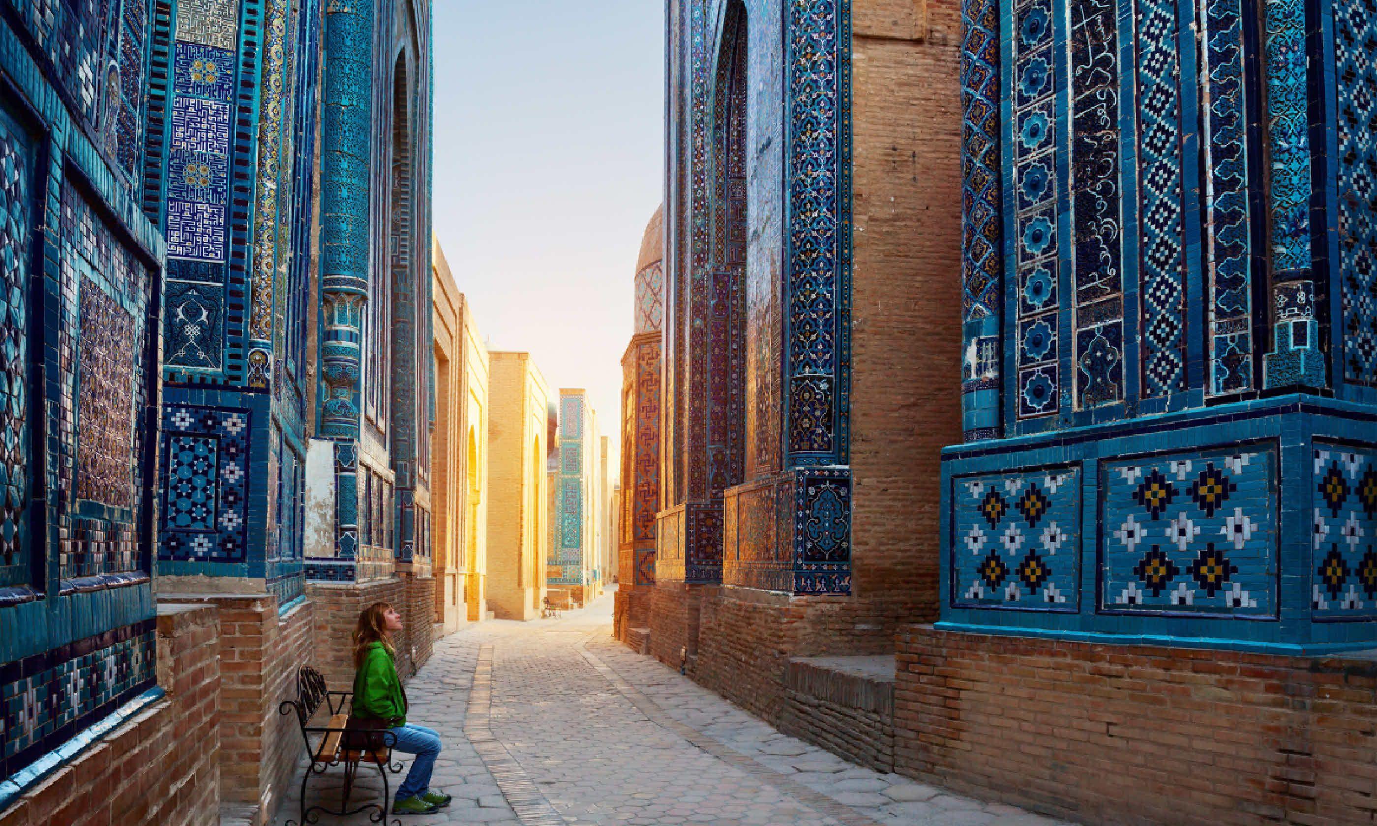 Ancient complex of Shah-i-Zinda, Samarkand (Shutterstock)