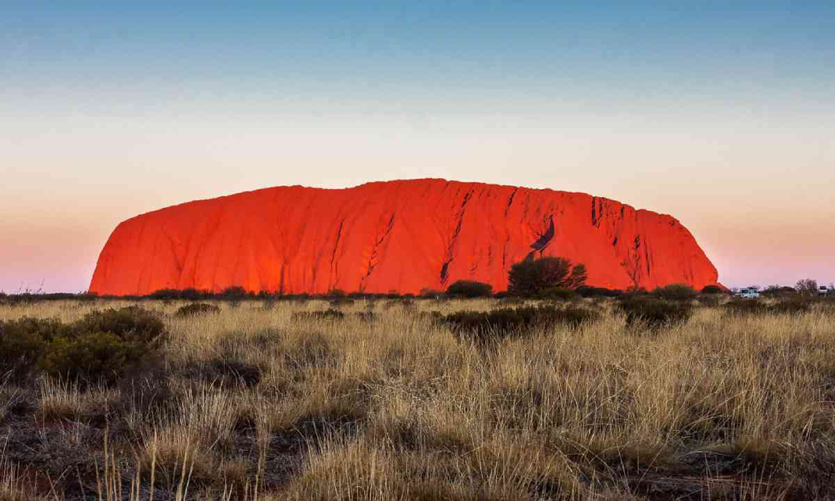 Uluru at sunset (Dreamstime)