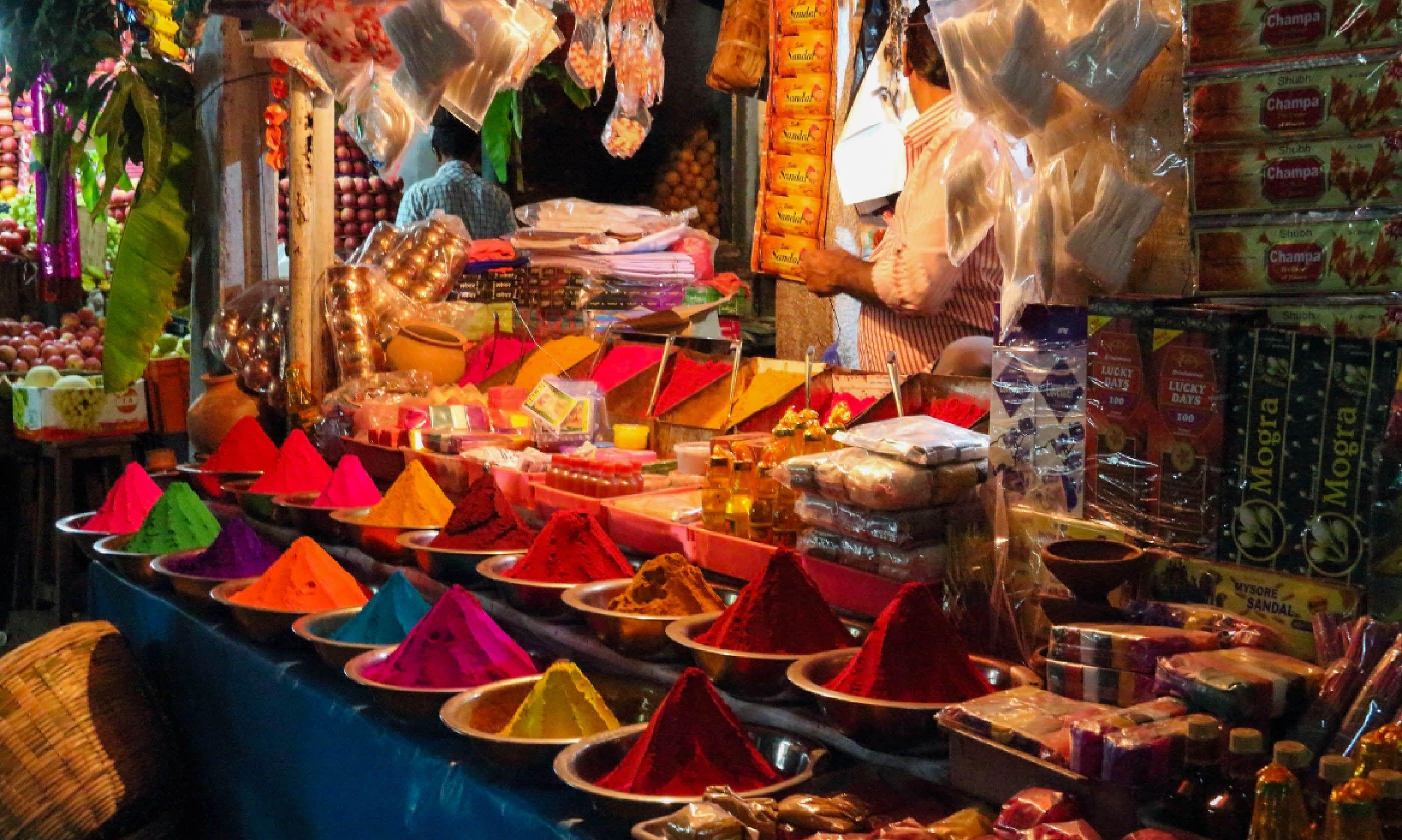 Devarai market in Mysore, India (Dreamstime)