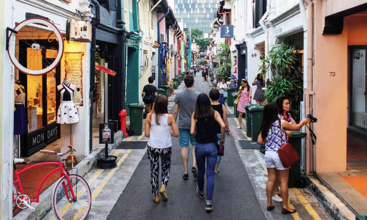 Haji Lane in Singapore's Arab Quaters