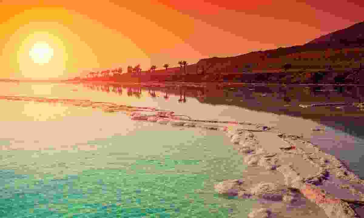 Sunset over the Dead Sea (Shutterstock)