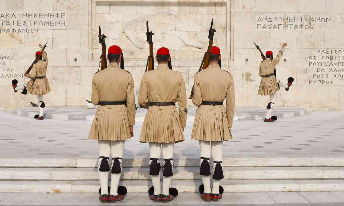 Ceremonial changing of the guards, Athens (Shutterstock.com)