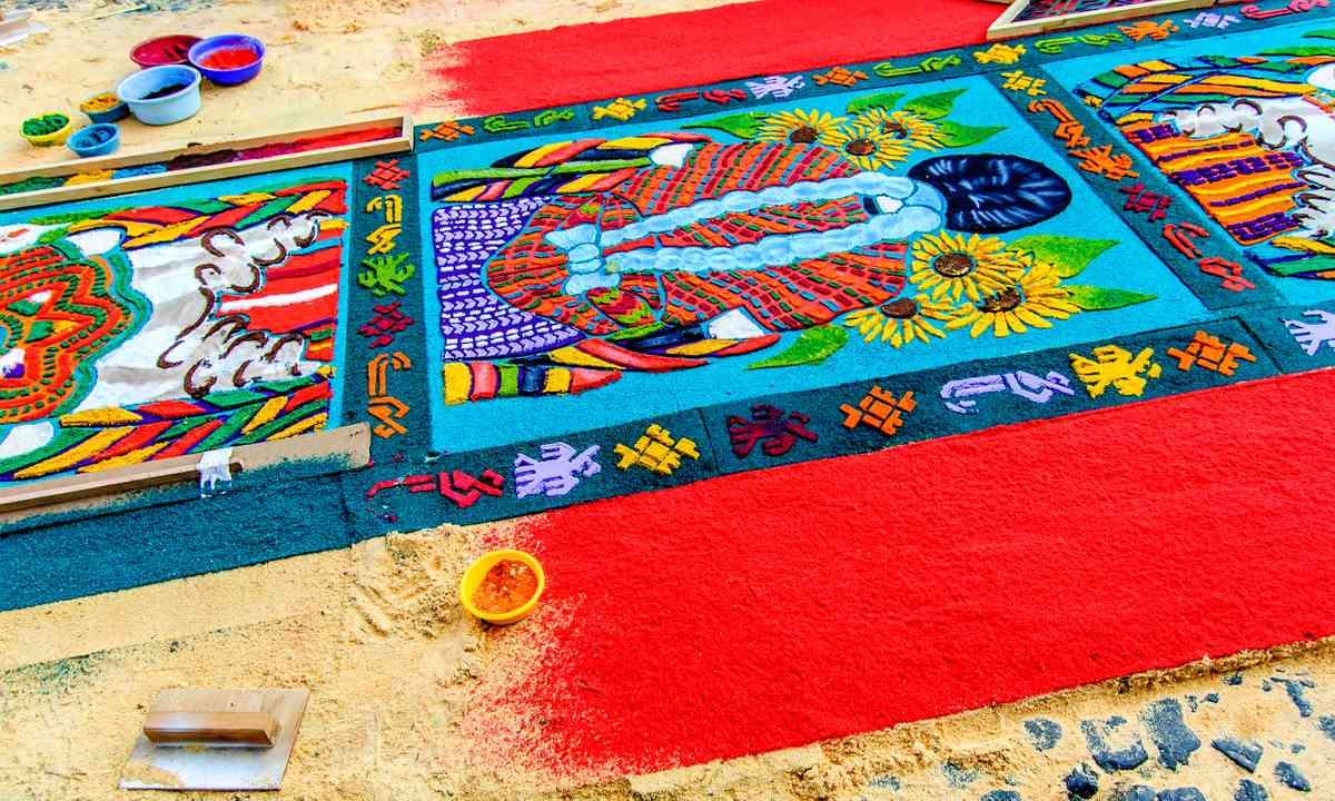 Palm Sunday carpet, Antigua (Shutterstock.com)