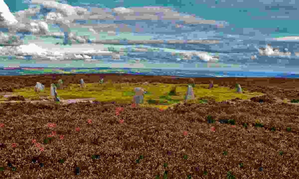 Twelve Apostles stone circle on Ilkley Moor (Shutterstock)