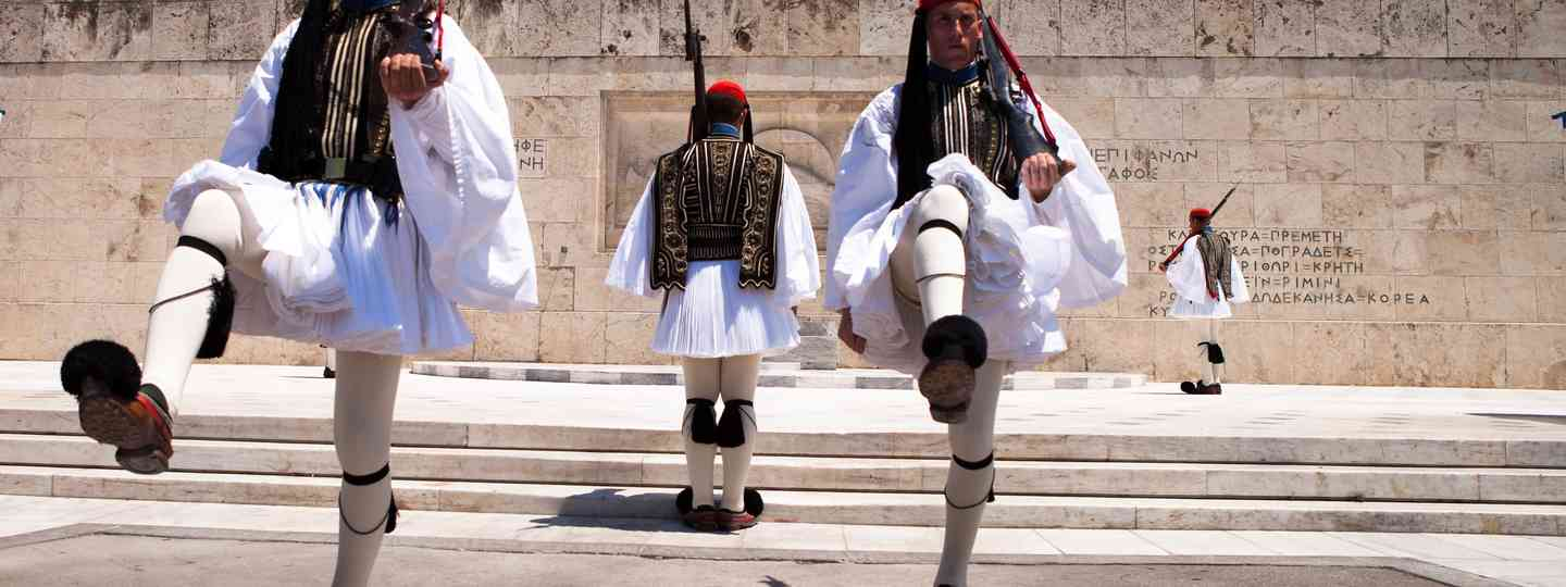 The Greek Evezone in their traditional uniforms (Shutterstock.com. See main credit below)
